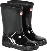Hunter Black First Gloss Wellington Boots