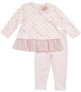 Little Me Tulle Skirted Tee & Leggings Set (Baby Girls)