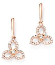 Bloomingdale's Diamond Flower Drop Earrings in 14K Rose Gold, 0.33 ct. t.w. - 100% Exclusive