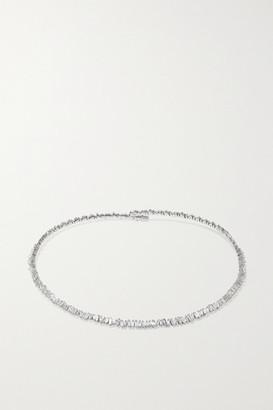 Suzanne Kalan 18-karat White Gold Diamond Collar