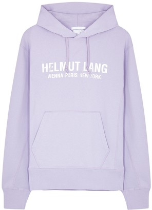 Helmut Lang Standard logo hooded cotton sweatshirt