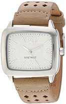 Nine West Women's Quartz Metal and Polyurethane Dress Watch, Color:Beige (Model: NW/1777NTNT)