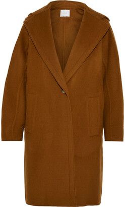 Vince Wool-blend Felt Hooded Coat