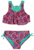 Hula Star Girls' Paisley Dream 2-Piece Crochet Swimsuit - Little Kid