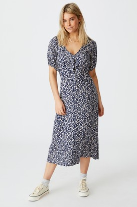 Cotton On Woven Clara Button Through Midi Dress