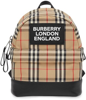 BURBERRY KIDS Logo Applique Backpack
