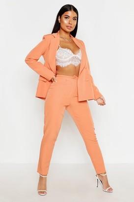 boohoo Petite Button Tailored Pants