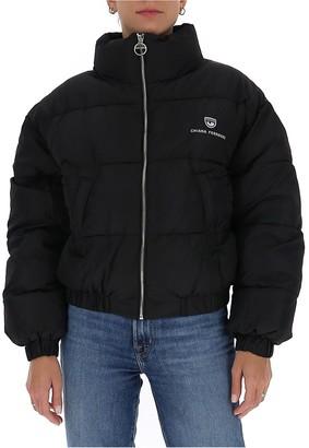 Chiara Ferragni Logo Patch Down Jacket