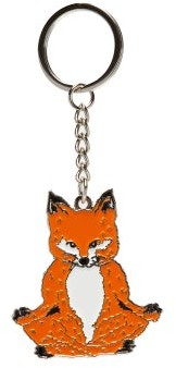 MAISON KITSUNÉ Lotus Fox Enamelled Metal Key Ring - Multi