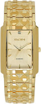 Elgin Mens Gold Tone Nugget Bracelet Watch Fg286Nb