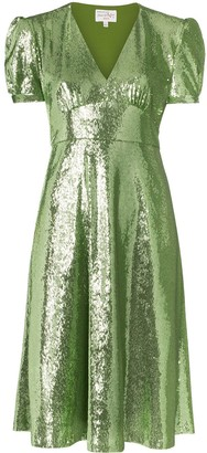 HVN Paula sequin-embellished dress