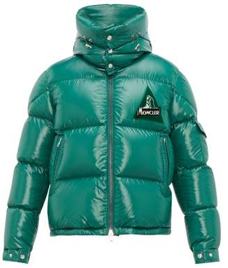 Moncler Wilson Lacquered Outer Down Filled Coat - Mens - Green