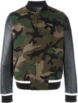 Valentino 'Rockstud' camouflage bomber jacket