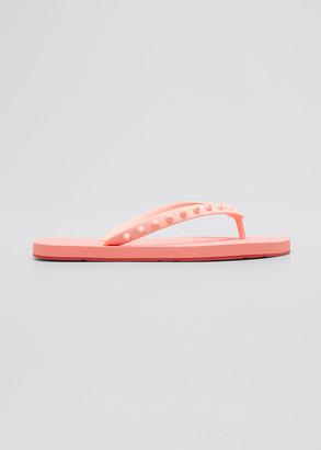 Christian Louboutin Loubi Spike Rubber Pool Sandals