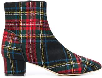 Polly Plume tartan ankle boots
