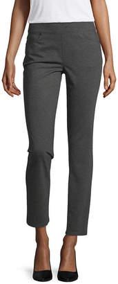 Liz Claiborne Womens Straight Pull-On Pants