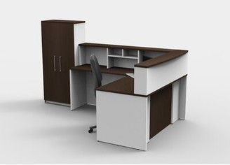 Dorothea Office L-Shape Reception Desk Latitude Run