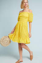 Donna Morgan Shelby Eyelet Petite Dress