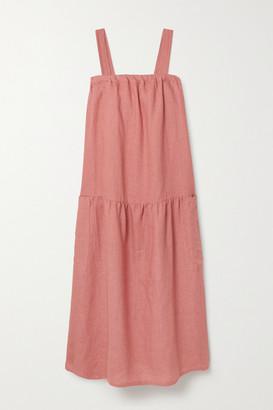 SUZIE KONDI Linen Midi Dress - Pink