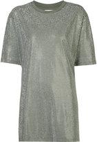 Faith Connexion allover studs T-shirt - women - Cotton/Aluminium - XS