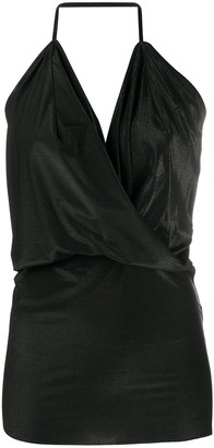 Rick Owens Lilies Draped Neck Vest Top
