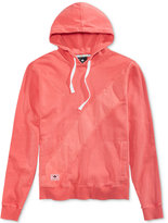 Lrg Men's Ill-De-Fined Pieced Embroidered-Logo Cotton Hoodie