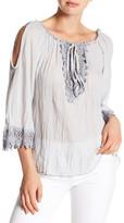 Luma Cold Shoulder Crochet Blouse