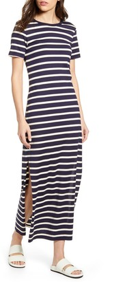 AG Jeans Alana Stripe Maxi T-Shirt Dress