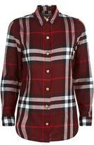 Burberry Check Cotton Military Button Shirt