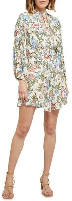 Oxford Elena Chintz Print Dress Brown