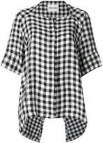 Henrik Vibskov gingham asymmetric shirt