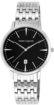 Vince Camuto Men's VC/1074BKSV The Associate Silver-Tone Bracelet Watch