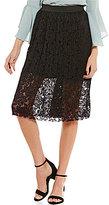 I.N. San Francisco Lace Midi Skirt