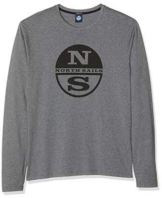North Sails Men's T-Shirt L/s W/Logo Kniited Tank Top, (Medium Grey Melange 0928)