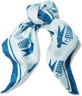 Anya Hindmarch Keep Britain printed silk scarf