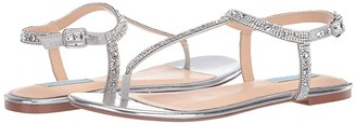 Blue by Betsey Johnson Lux Flat Sandal (Gold) Women's Shoes