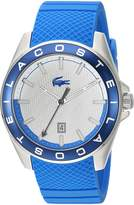 Lacoste Men's 2010905 Sport Westport - 3h Ss Case Blue Silicone Strap and Dial with Blue Bezel Watch