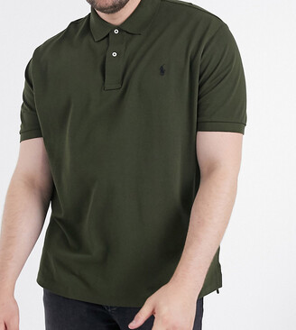 Polo Ralph Lauren Big & Tall player logo pique polo in olive green