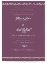 Minted Ornamental Formal Wedding Invitations
