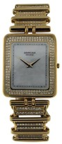 Boucheron Sarcar 18K Yellow Gold All Diamond Mother of Pearl Dial Womens 30mm Watch