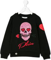 Philipp Plein Junior skull sweatshirt