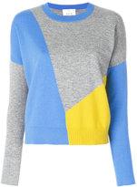 Allude colour block jumper
