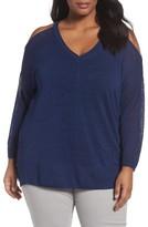 Sejour Plus Size Women's Cold Shoulder Sweater