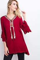 Easel Red Boho Tunic