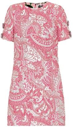 Dolce & Gabbana Metallic silk-blend jacquard dress