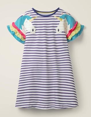 Flutter Sleeve Jersey Dress