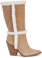 Sam Edelman Ilsa Faux Shearling & Suede Tall Boots