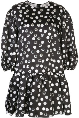 Carolina Herrera Polka Dot Silk Dress