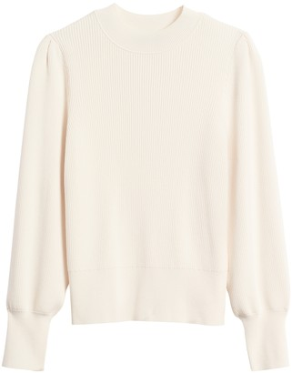 Banana Republic Puff-Sleeve Cropped Sweater