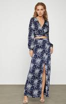 BCBGMAXAZRIA Floral Cluster Satin Skirt